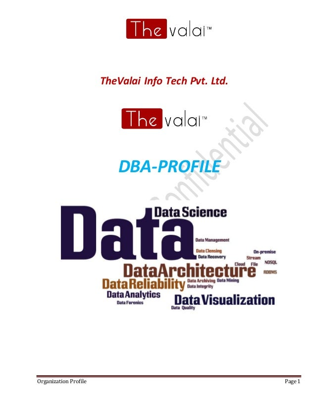 Organization Profile Page 1 TheValai Info Tech Pvt. Ltd. DBA-PROFILE