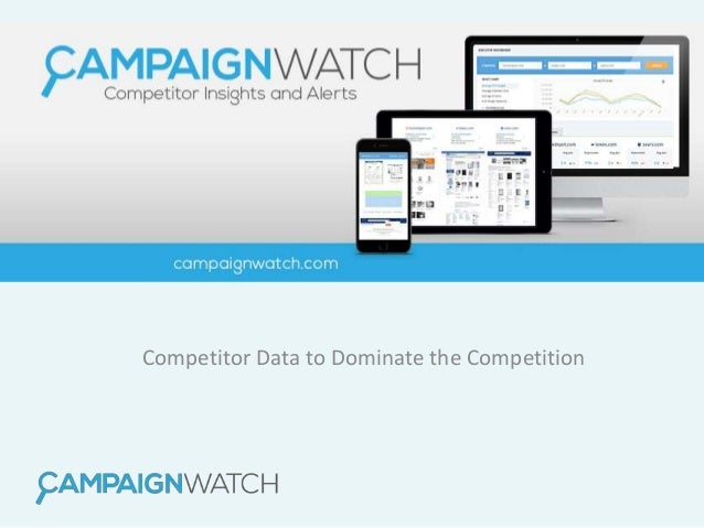 Competitor Data to Dominate the Competition
