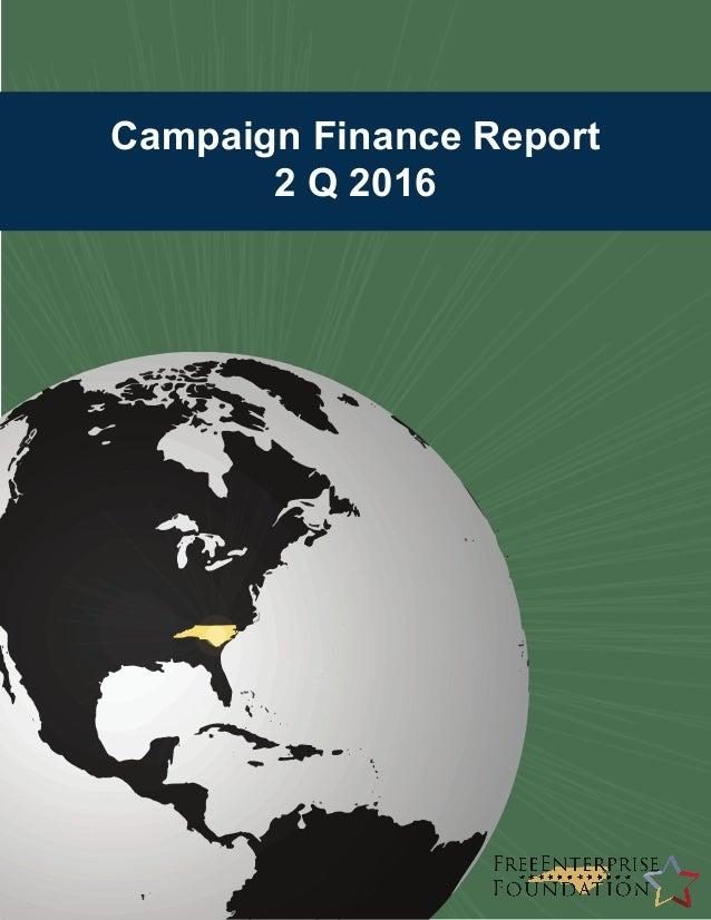 Campaign Finance Report 2 Q 2016