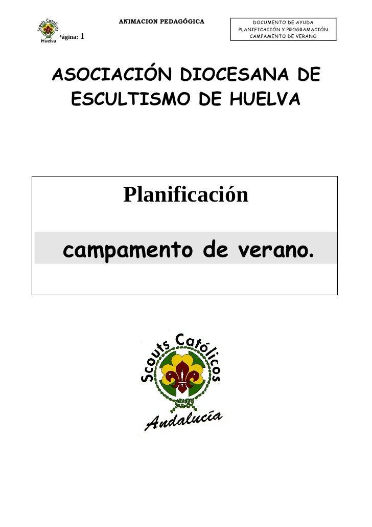 ANIMACION PEDAGÓGICA        DOCUMENTO DE AYUDA                                    PLANIFICACIÓN Y PROGRAMACIÓN Página: 1  ...