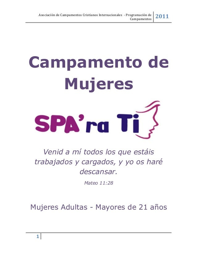 Programa De Campamento Cristiano Para Mujeres Mayores De 21 Anos Spa