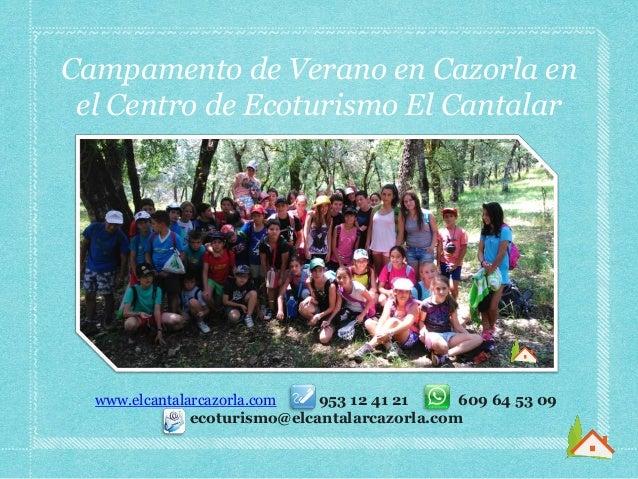 Campamento de Verano en Cazorla en el Centro de Ecoturismo El Cantalar www.elcantalarcazorla.com 953 12 41 21 609 64 53 09...