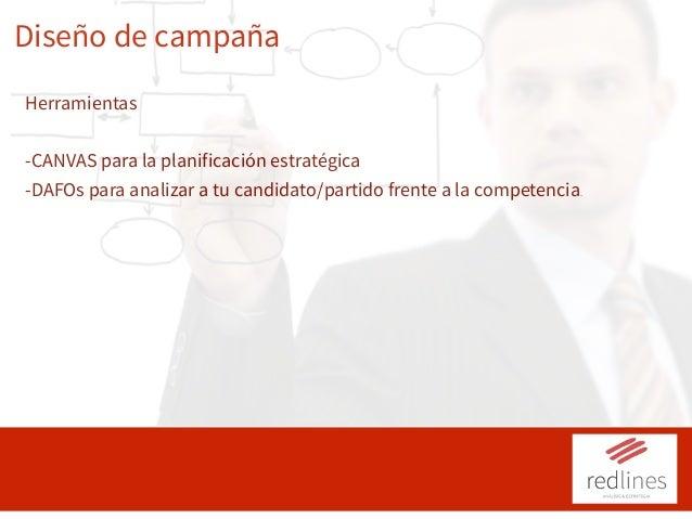 Diseño de campaña Herramientas -CANVAS para la planificación estratégica -DAFOs para analizar a tu candidato/partido frent...