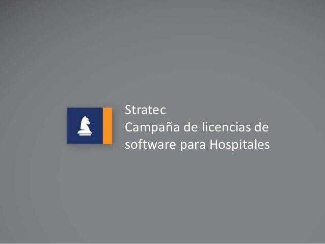 Stratec  Campaña de licencias de  software para Hospitales  Stratec  Campanha de doação de licença de  software para hospi...