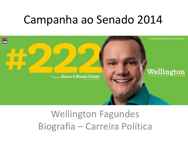Campanha ao Senado 2014 Wellington Fagundes Biografia – Carreira Política