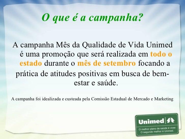 Campanha Mês Qualidade de Vida 2007 Slide 2