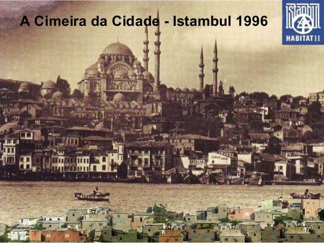 A Cimeira da Cidade - Istambul 1996