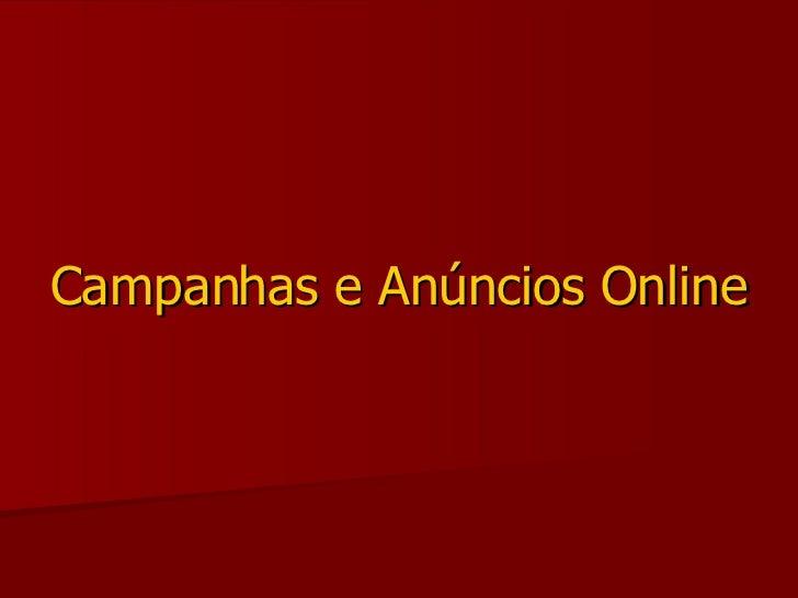 Campanhas e Anúncios Online