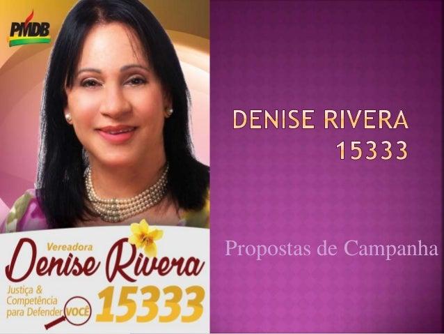 Propostas de Campanha