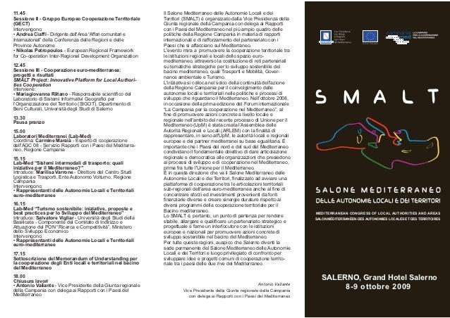 11.45                                                         Il Salone Mediterraneo delle Autonomie Locali e deiSessione ...