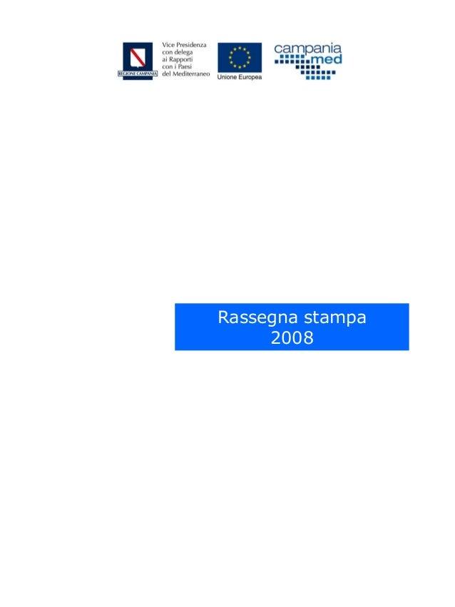 Rassegna stampa 2008