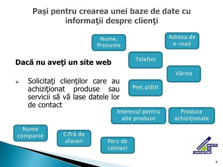 obţinerea datelor de contact de la parteneri de afaceri, invitaţi la evenimente unde participaţi şi schimbaţi cărţi de viz...