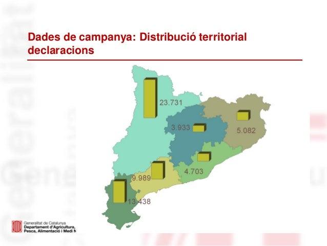 Dades de campanya: Distribució territorialdeclaracions