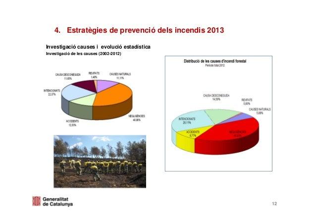 Investigació causes i evolució estadísticaInvestigació de les causes (2002-2012)124. Estratègies de prevenció dels incendi...