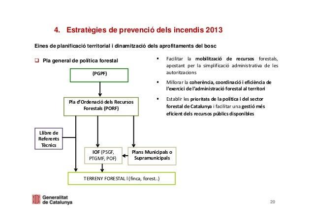 Eines de planificació territorial i dinamització dels aprofitaments del boscPla general de política forestal4. Estratègies...