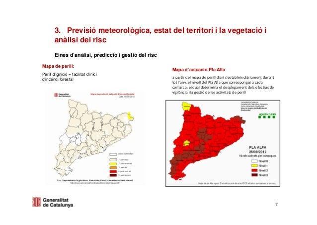 3. Previsió meteorològica, estat del territori i la vegetació ianàlisi del riscEines d'anàlisi, predicció i gestió del ris...