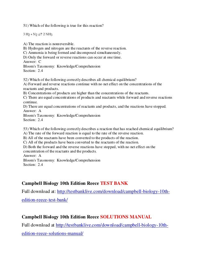campbell and reece biology 10th edition pdf