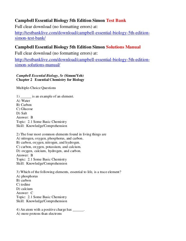 molecular biology of the cell 5th edition test bank pdf