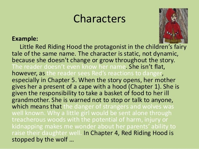 campbell high school podcast characterization 9 characters example little red riding hood