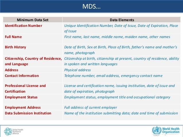 ... Minimum Data Set  13. MDS – 10 key fields  14. 16a07331d873