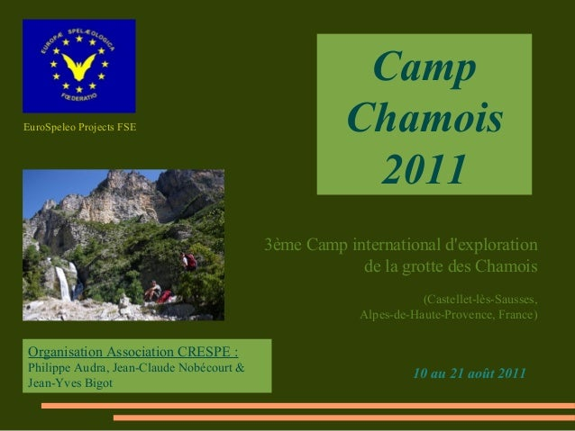 CampEuroSpeleo Projects FSE                               Chamois                                                       20...