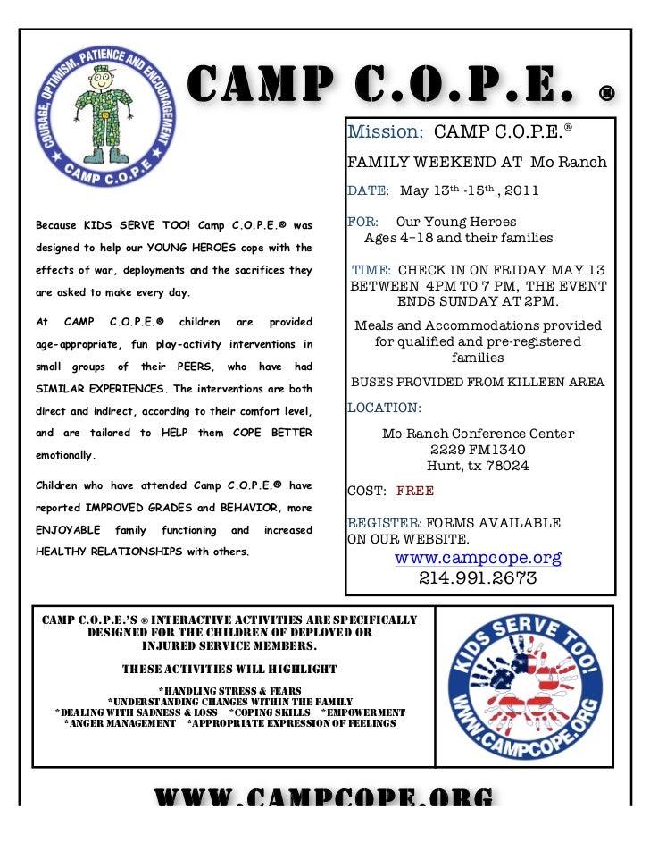 CAMP C.O.P.E.                                                   ®                                                         ...