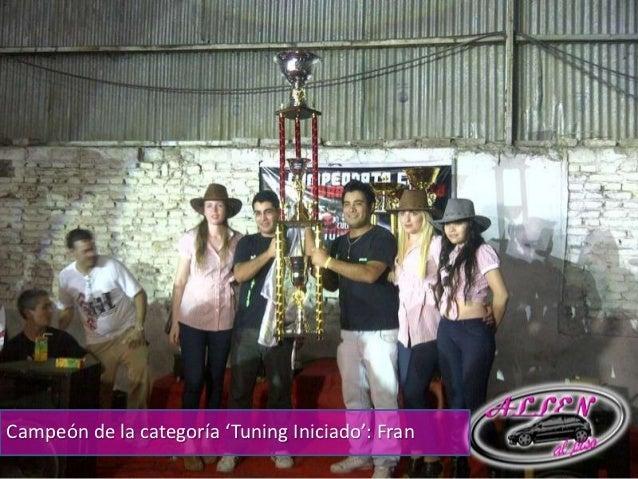 Campeón de la categoría 'Tuning Iniciado': Fran