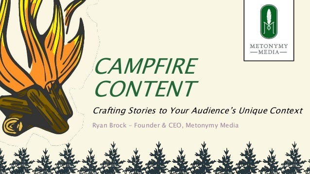 CAMPFIRE CONTENT Crafting Stories to Your Audience's Unique Context Ryan Brock – Founder & CEO, Metonymy Media