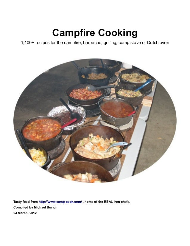 Campfire Cooking 1,100+ recipes for the campfire, barbecue, grilling, camp stove or Dutch oven  Tasty food from http://www...