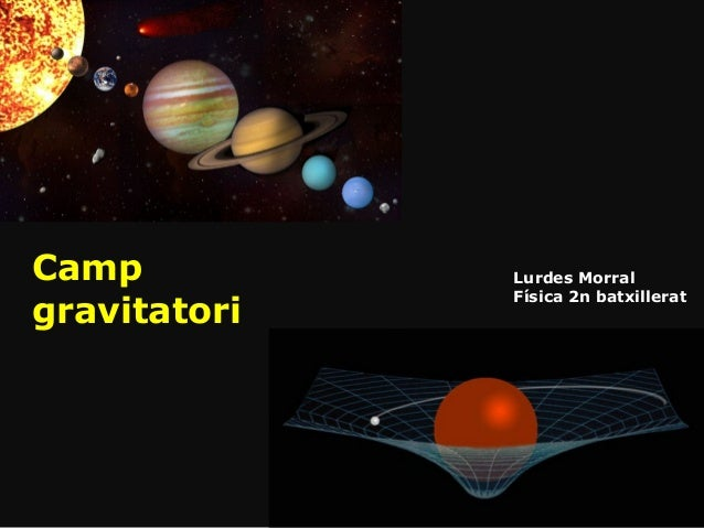 Camp gravitatori Lurdes Morral Física 2n batxillerat