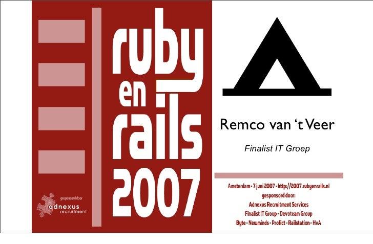 Remco van 't Veer    Finalist IT Groep