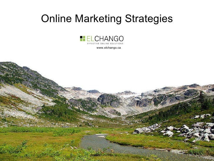 Online Marketing Strategies www.elchango.ca