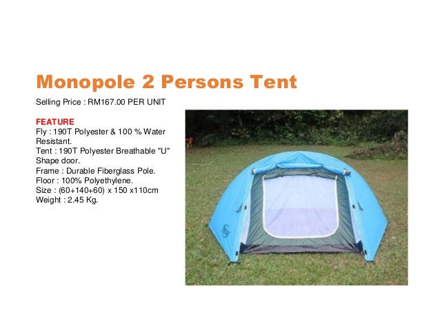 ... 2. Monopole 2 Persons Tent ...  sc 1 st  SlideShare & Camping tent supplier kuala lumpur