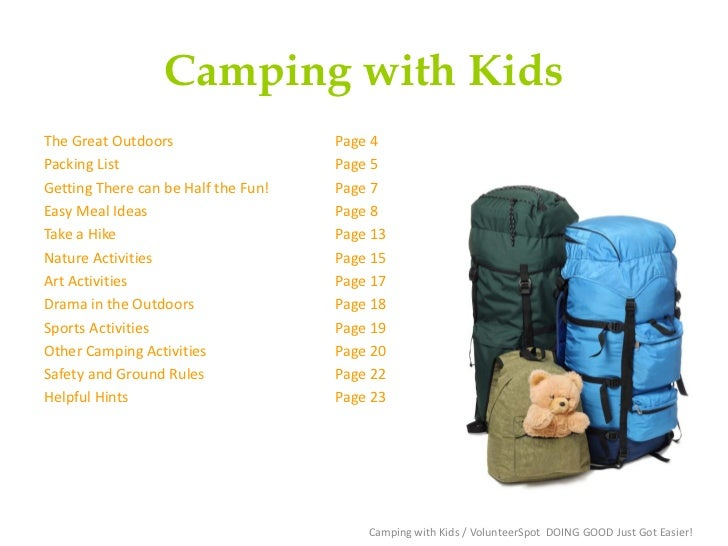 Plan Ahead With VolunteerSpot When Camping With A Group Its A Good