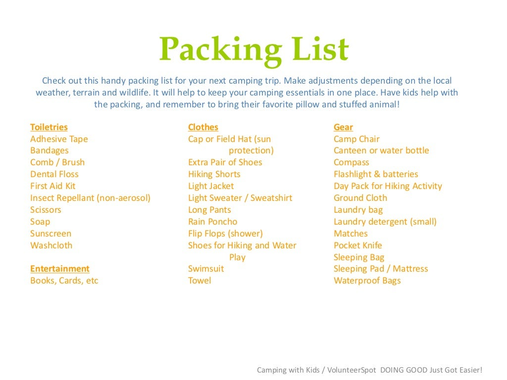 boy scout camping packing list   jose mulinohouse co