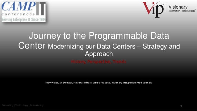 Journey to the Programmable Data Center Modernizing our Data Centers – Strategy and Approach History, Perspective, Trends ...