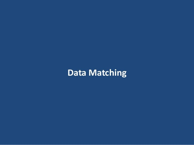 14 Data Matching