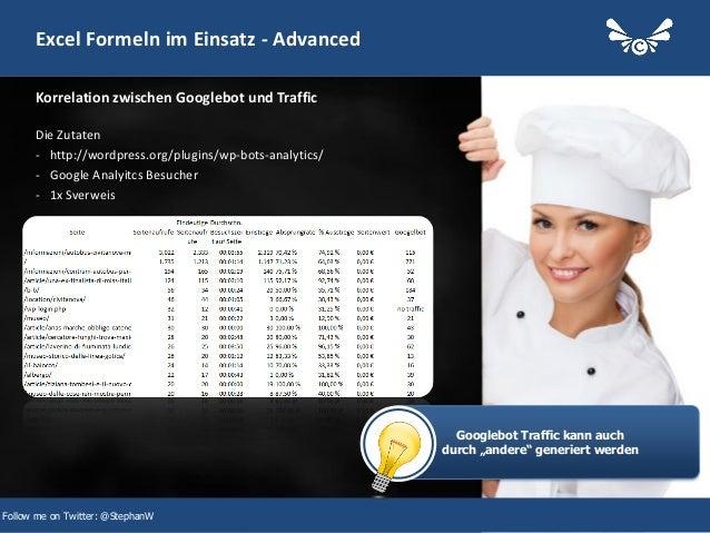 29 Excel Formeln im Einsatz - Advanced Die Zutaten - http://wordpress.org/plugins/wp-bots-analytics/ - Google Analyitcs Be...
