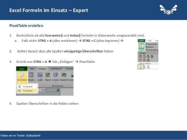 33 Excel Formeln im Einsatz – Expert 1. Kontrolliere ob alle Sverweise() und Index() Formeln in Datenwerte umgewandelt sin...