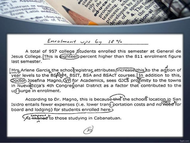 """COPY READING/ COPY EDITING More Than Just Marks and Words """"Youcannotcorrectunlessyouknowthatthereissomethingwrong."""""""