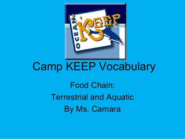 Camp KEEP Vocabulary Food Chain: Terrestrial and Aquatic By Ms. Camara