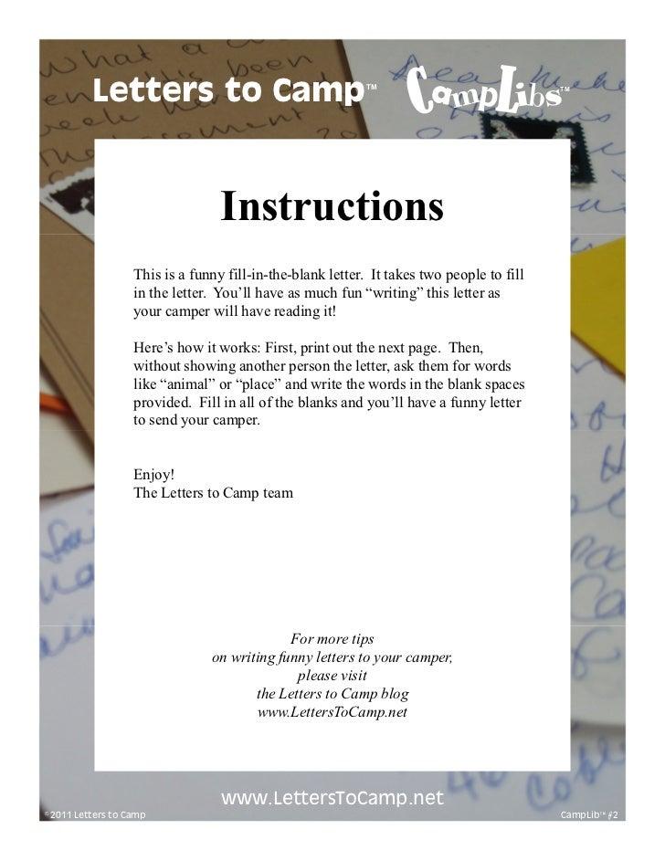 Letters to Camp                                   TM                             TM                                  Instr...