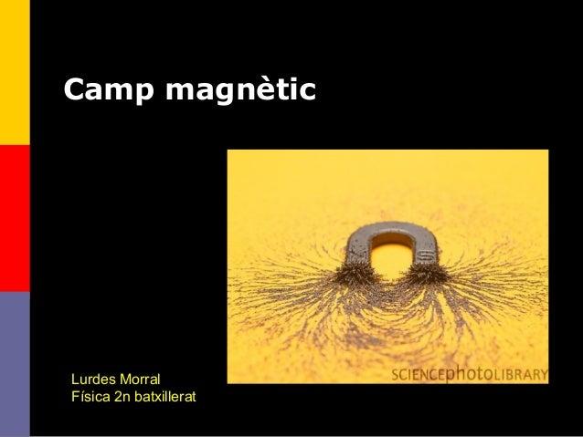 1 Camp magnètic Lurdes Morral Física 2n batxillerat