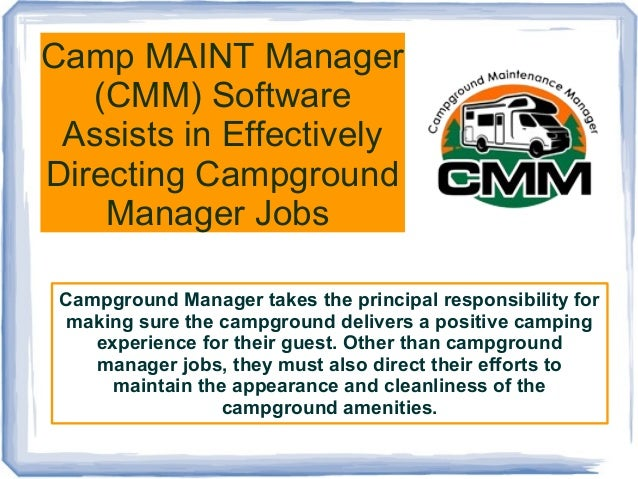 capture new customers. campground manager in training lodges cabins ...