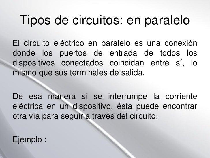 Circuito En Paralelo Ejemplos : Campo electrico y electricidad