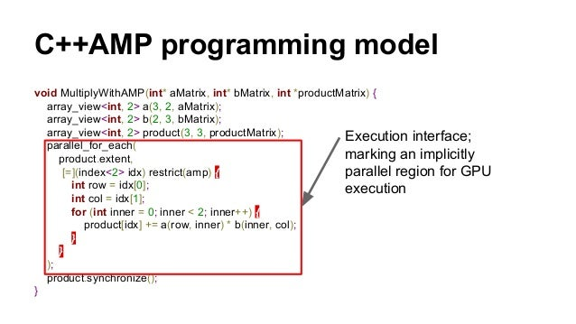 MCW C++AMP (CLAMP)  ● Clang/LLVM-based  ○ translate C++AMP code to OpenCL C code and  generate OpenCL SPIR file  ○ With so...
