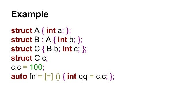 Deserialization constructor  struct C  {  B b;  int c;  C (int a, int b, int c) : c(c), b(a, b) {}  };