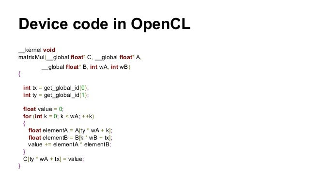 int  main(int argc, char** argv)  {  // set seed for rand()  srand(2006);  // 1. allocate host memory for matrices A and B...