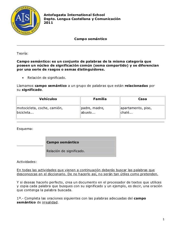 -301625-30924511°GradeAntofagasta International School<br />Depto. Lengua Castellana y Comunicación<br />2011<br />Campo s...
