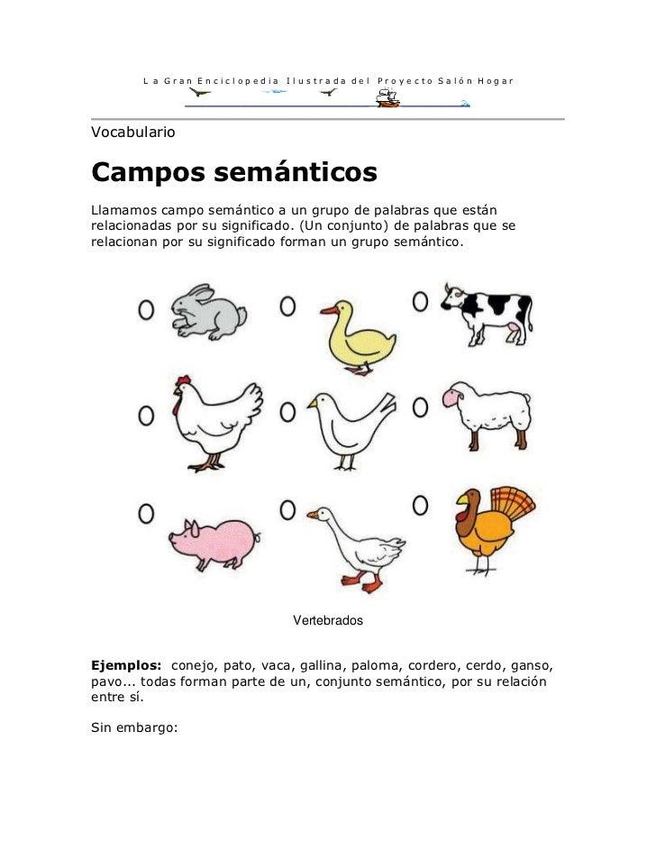 L a Gran Enciclopedia   Ilustrada del   Proyecto Salón HogarVocabularioCampos semánticosLlamamos campo semántico a un grup...